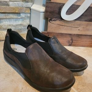 Clarks Cloud Steppers Sillian Brown Loafers Size 7